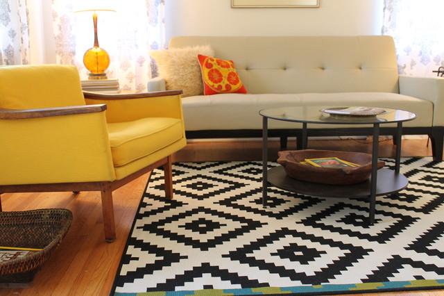 Vintage modern style cottage midcentury living room for Modern vintage living room