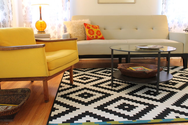 Vintage modern style cottage midcentury living room los angeles by madison modern home for Living room antique and modern