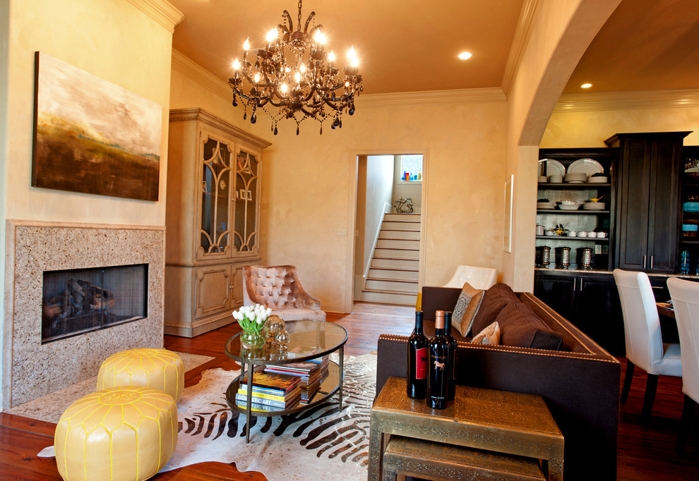 Living room - transitional living room idea in New Orleans