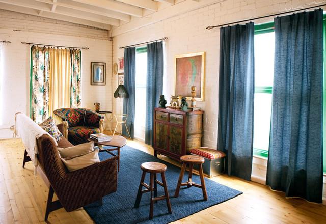 Vintage Renewal Loft eclectic-living-room