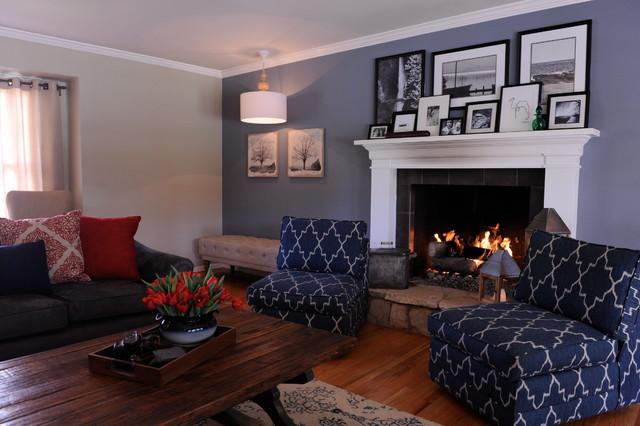 rustic traditional living room ideas | Vintage Rustic in Northridge - Traditional - Living Room ...