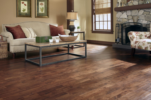 Virginia Mill Works Burnished Acacia Solid Hardwood Transitional Living Room