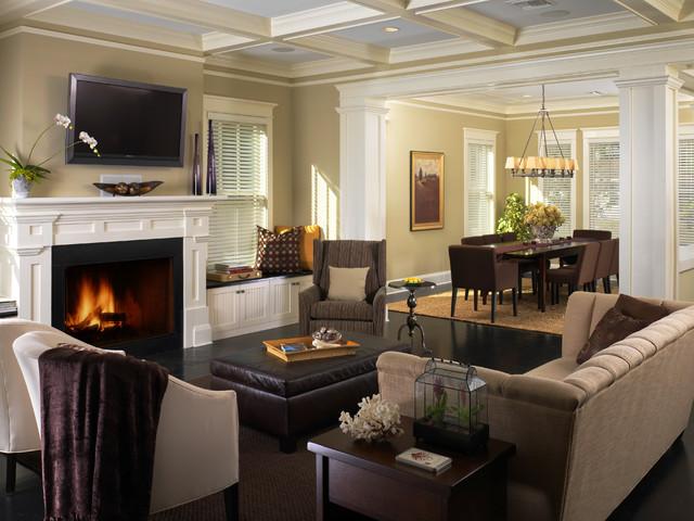 Virginia Park – Craftsman; Custom Home traditional-living-room