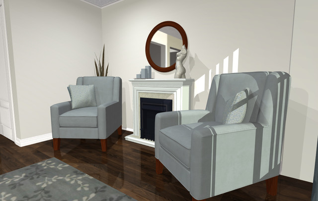 Virtual Decorating Living Room Contemporary Living Room