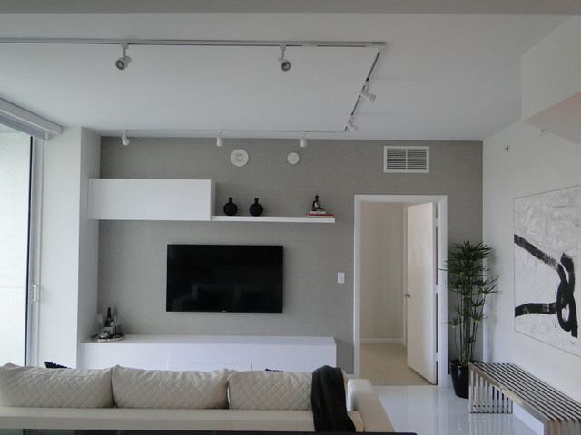 White And Grey Living Room Design - Appealhome.com