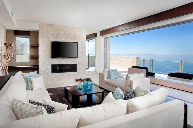 Vista Del Mar contemporary-living-room