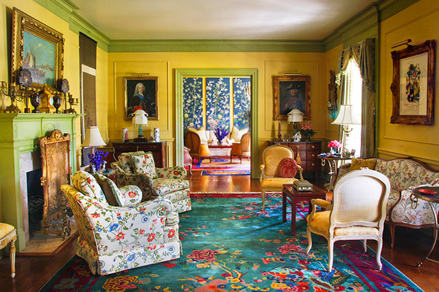Vivid Color Eclectic Living Room New Orleans By Chad Chenier Photography