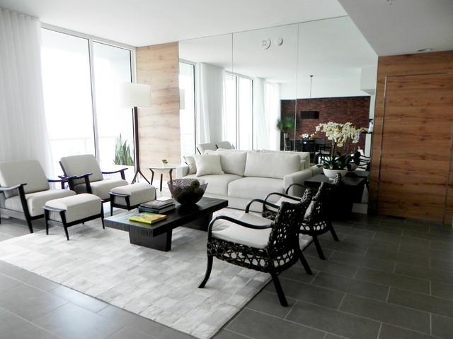 Vizcayne living room area contemporary living room for Modern living room usa