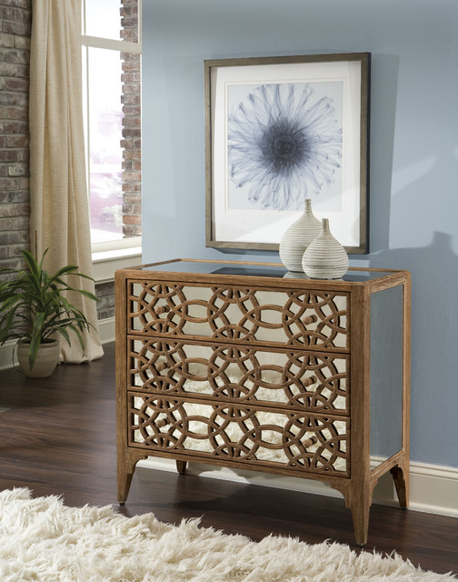 Hooker Furniture Living Room Auberose Three Drawer Accent Chest