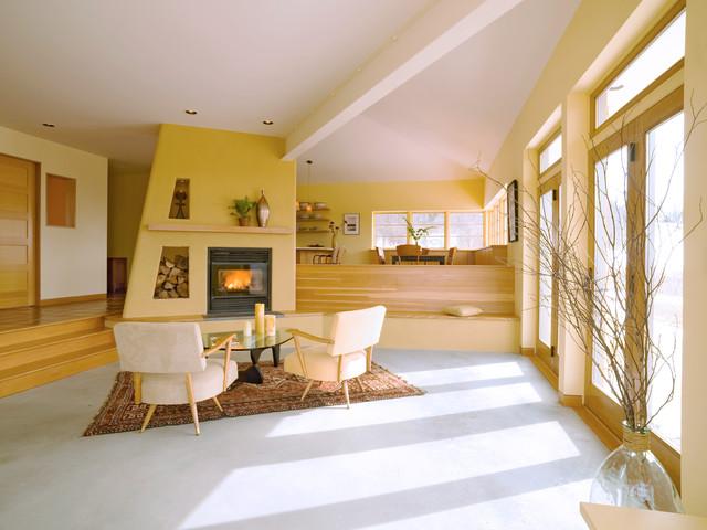 Vt mountain view house modern living room burlington for The family room vermont