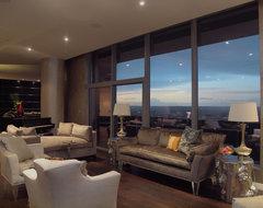 W Penthouse Condo contemporary-living-room