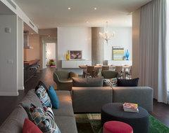 W Residence Living/Dining modern-family-room