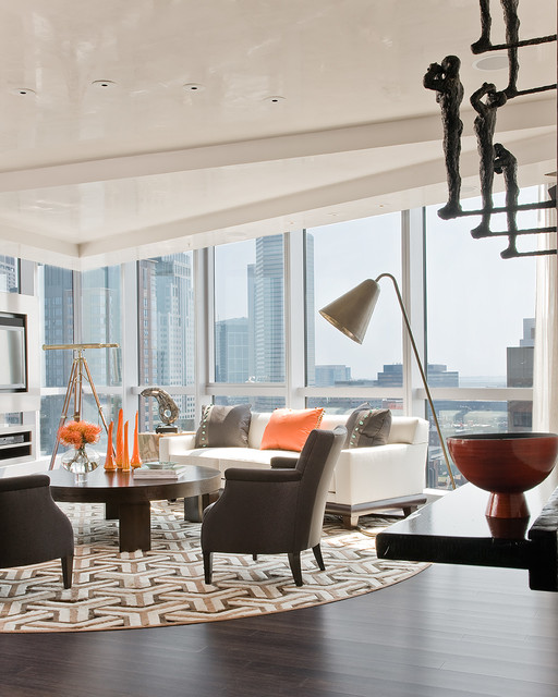 W Residences, Boston contemporary-living-room