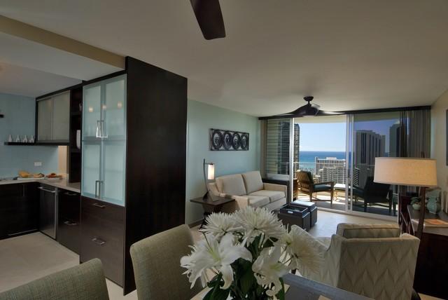 Waikiki Chic contemporary-living-room