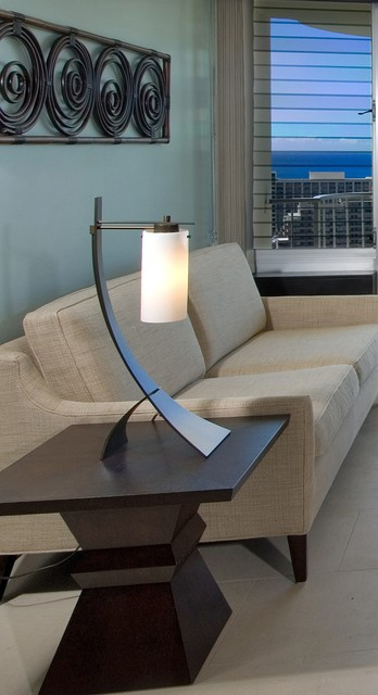 Waikiki chic sofa, lamp and accessory contemporary living room
