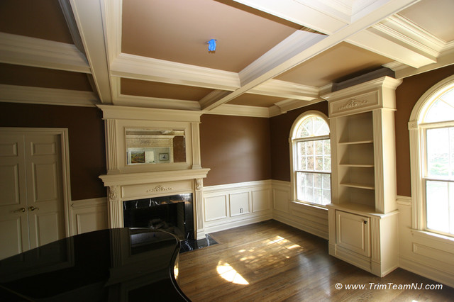 Wainscot And Picture Frames Traditional Living Room