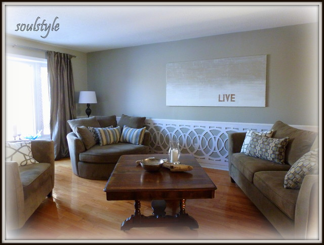 Wainscot Living Room Toronto By Soulstyle Interior