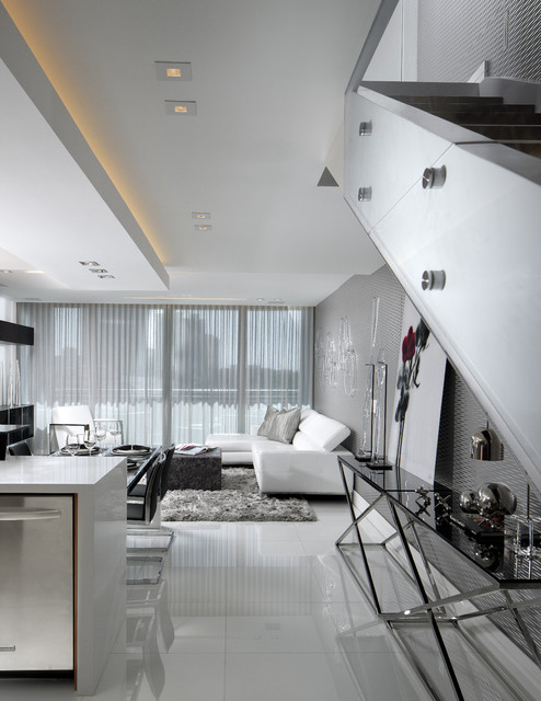 Walk Way Vision Contemporary Living Room Miami By