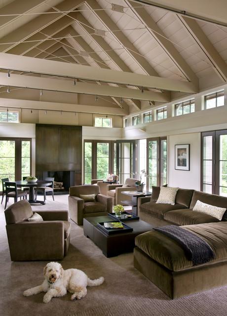 Walker Meadow Transitional Living Room Boston By Hutker Architects