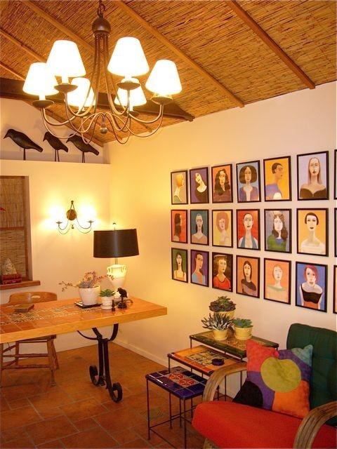 wall art eclectic-living-room