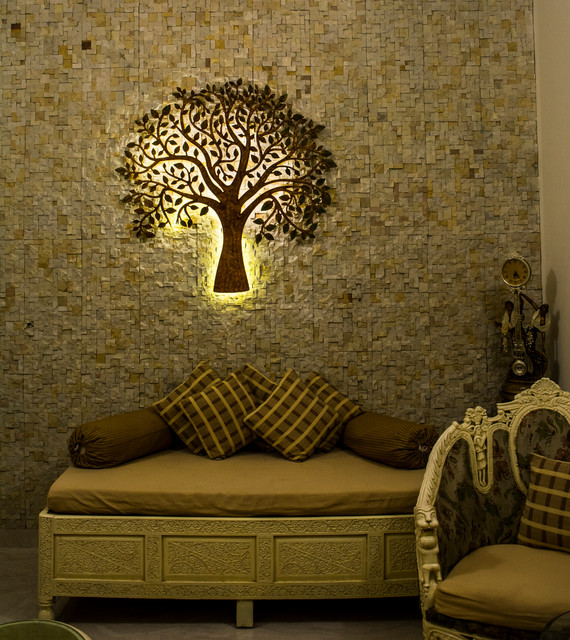 Wall concepts by Stone Ideas craftsman-living-room