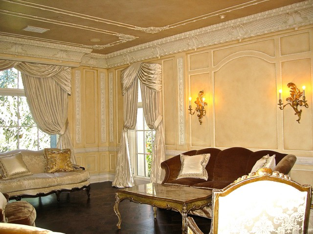 Wall Glaze Living Room French Style Mediterranean Living Room Orange County By Joni