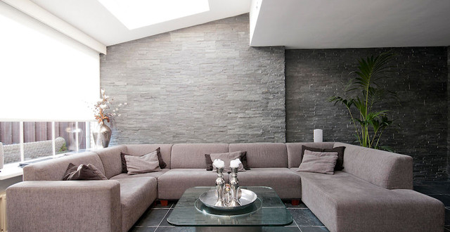 Wall Panels Contemporary Living Room