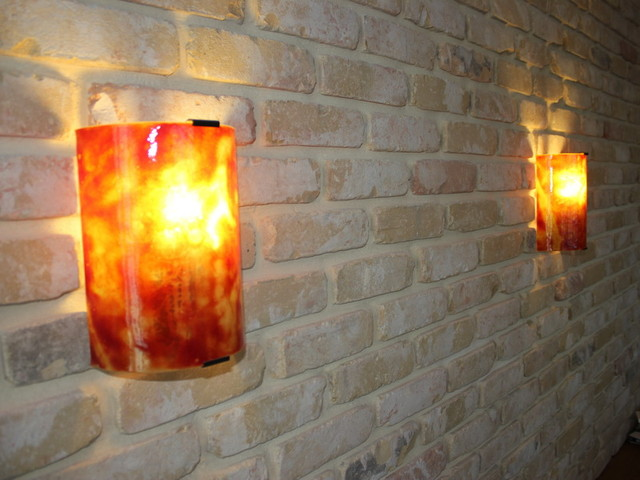 Modern Wall Sconces Living Room : Wall sconces -Dawn small - Modern - Living Room - other metro - by Galilee Lighting