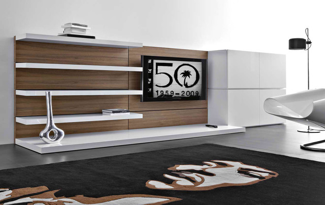 Contemporary Wall Unit wall unit 19 - contemporary - living room - chicago -iqmatics