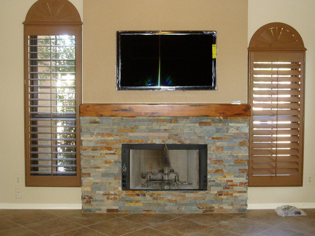 Wall Unit and Fireplace
