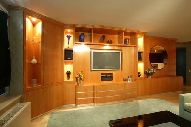 Wall Unit / Entertainment Center - Modern - Living Room - new york - by John A. Buscarello, ASID