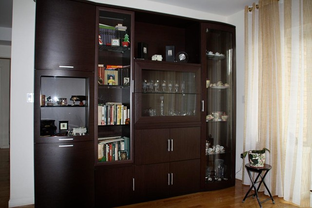 Wall Unit Furniture Living Room wall unit - contemporary - living room - new york -mig