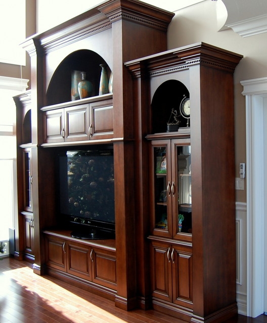 Wall units traditional living room toronto by for Traditional wall units