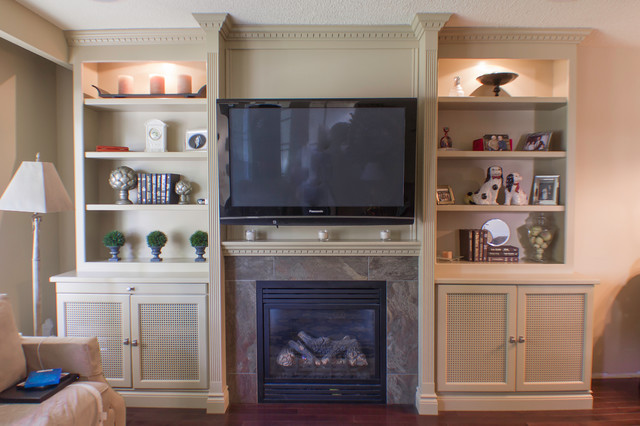 wall units traditional living room toronto by fine