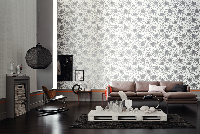 Wallpaper accent wall for Living wohnen