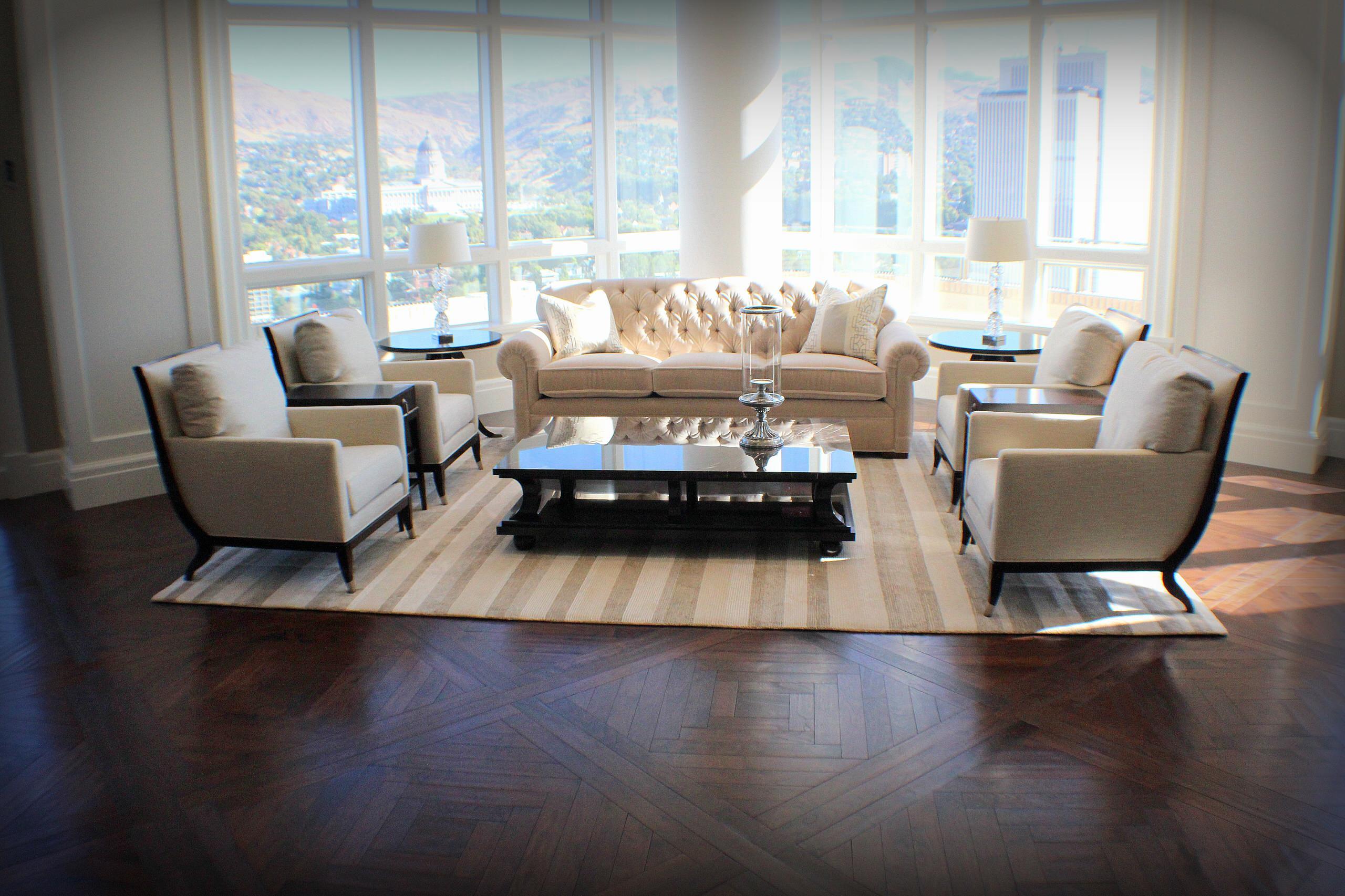 Walnut Floors Anchor Sky High Condo