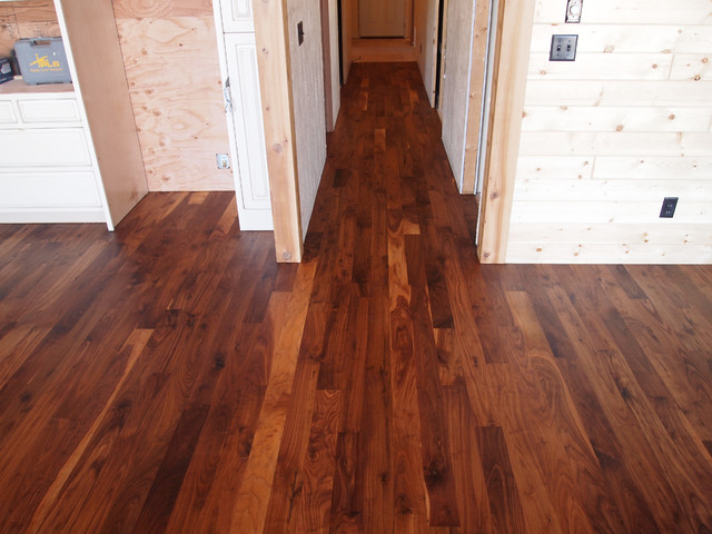 Walnut hardwood flooring with rubio monocoat for Wooden flooring dealers