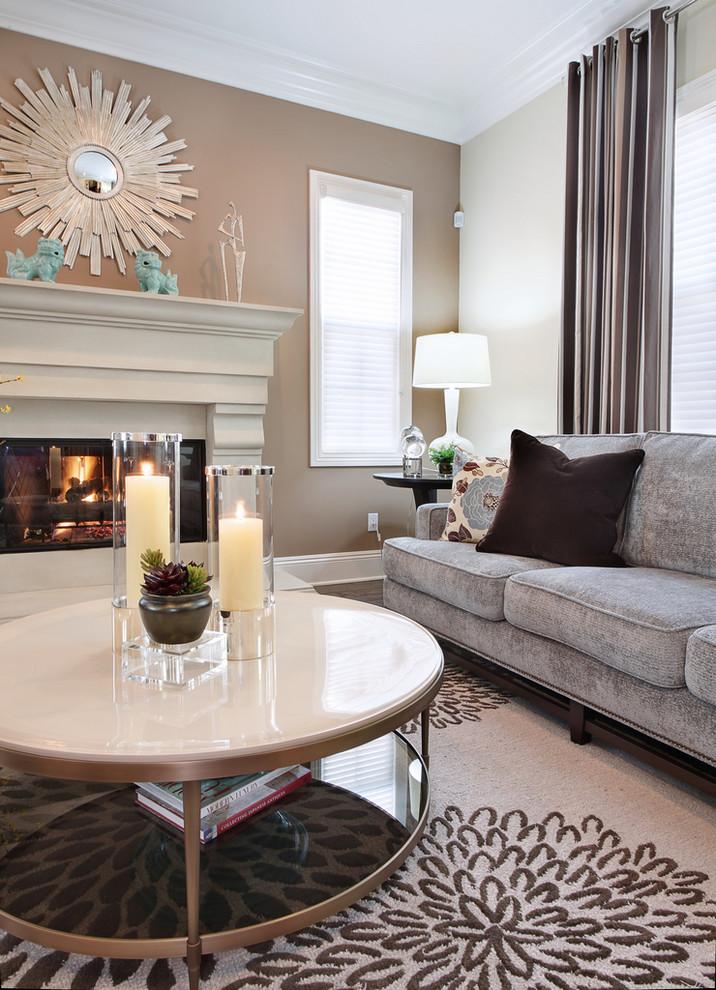 Trendy living room photo in Orange County