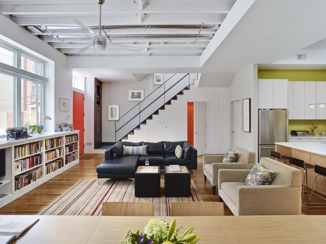 Warehouse Conversion Contemporary Living Room