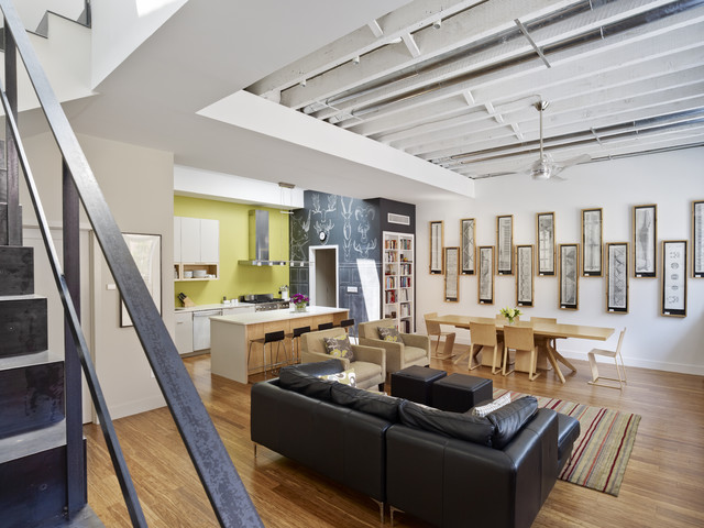 Warehouse Conversion contemporary-living-room