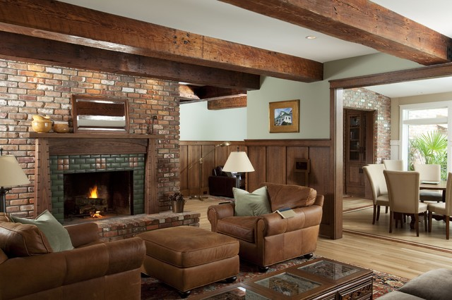 Warm and cozy. traditional living room