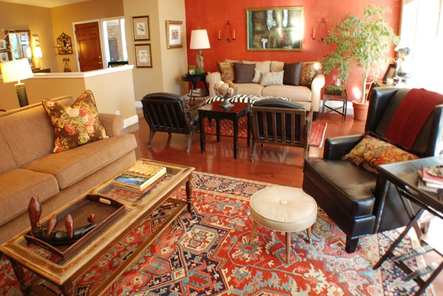 Warm And Eclectic Living Room Traditional
