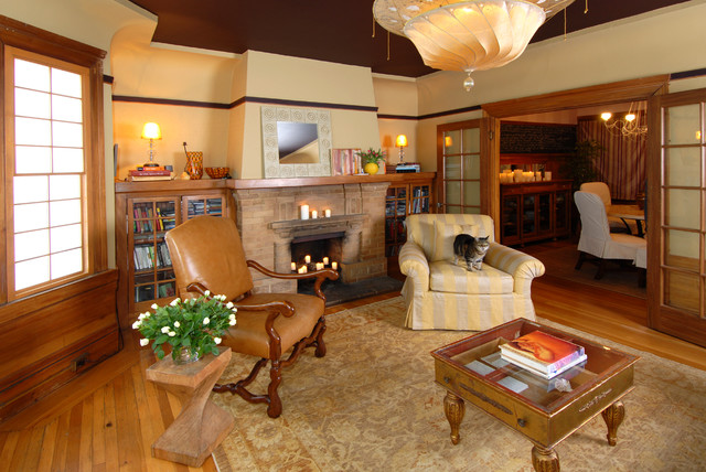 Warm Inviting San Francisco Living Room Craftsman