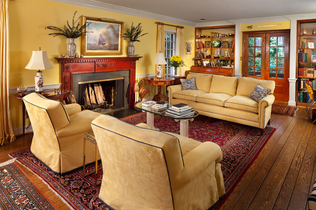 Warm and welcoming living room traditional living room for Interior design living room warm