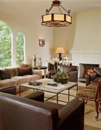 Warm Contemporary contemporary-living-room