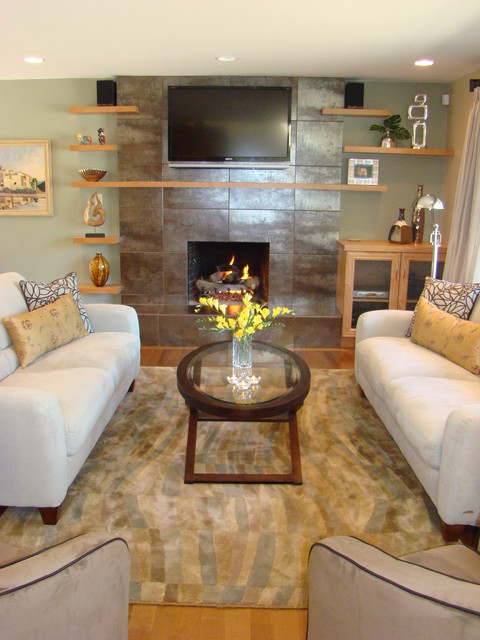 Warm contemporary transitional living room vancouver by miccaro designs fine - Interior design living room warm ...
