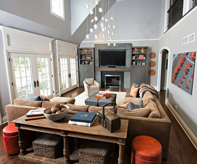 Warm inviting family room for Warm inviting living room ideas