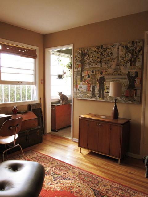 warm living room modern-living-room