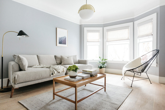 Warm Minimalist Flat Scandinavian Living Room