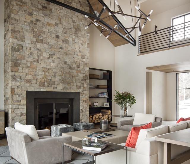 Warm springs contemporary living room boise by jennifer hoey interior design - Interior design living room warm ...